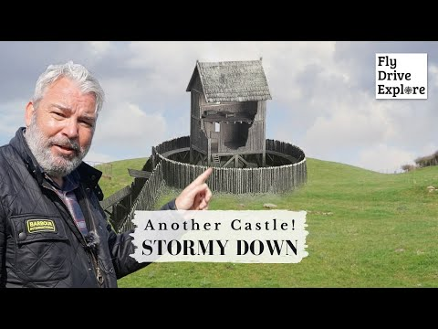 A forgotten castle - stormy down and its medieval remains