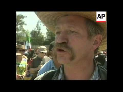 Mexico: zapatistas: rebels rally on the outskirts of mexico city