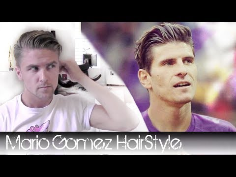 Mario gomez footballer hair - how to style it with, hair wax, a brush and a blow dryer