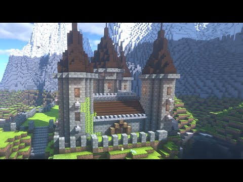 How to build a castle in | minecraft (cool easy stone castle) ✔✔