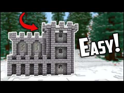 How to build a minecraft castle fort (easy!)
