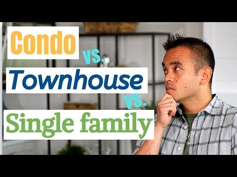 Condo vs townhouse vs single family house | differences with the pros & cons of buying