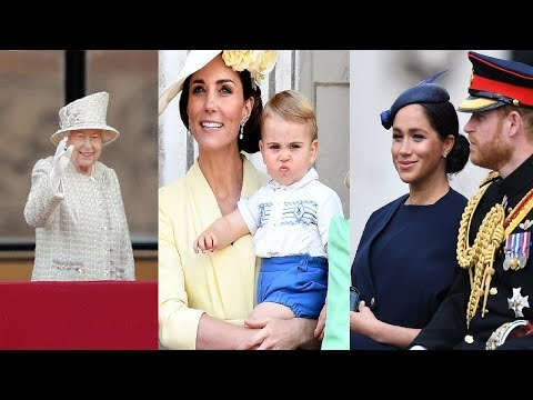 Trooping colour 2019: the queen, duchess meghan, prince louis & the royal family's best moments