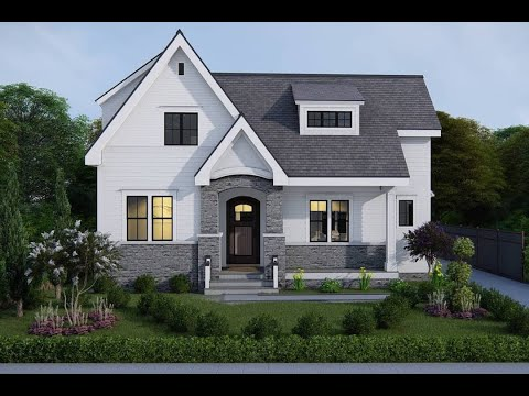 1.5-story european cottage plan with outdoor shower from the plan collection