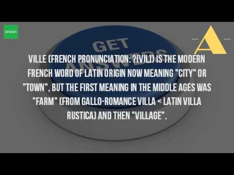 What does the suffix ville mean