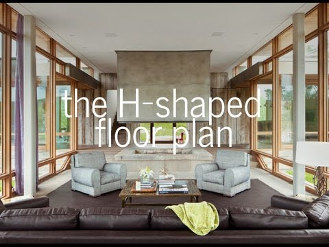 The h-shaped floor plan - ( medieval hall house )