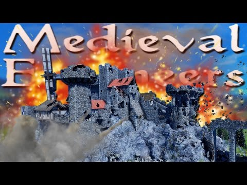 Build & destroy your own castle! | medieval engineers #1