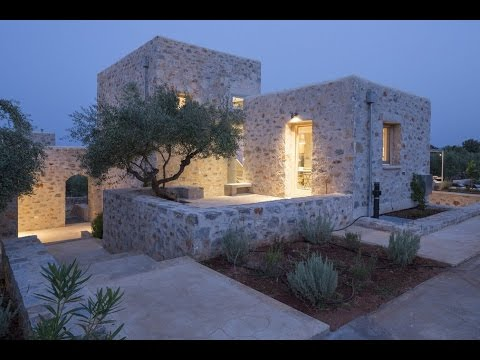 Architect's villa, a stone residence located in mani,peloponnese, greece, designed by hhh architects