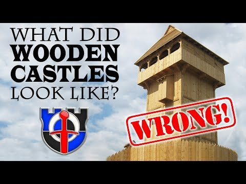 What did wooden castles look like and how were they built?
