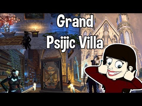 The elder scrolls online - fully decorated house tour grand psijic villa 700/700 (commentary)