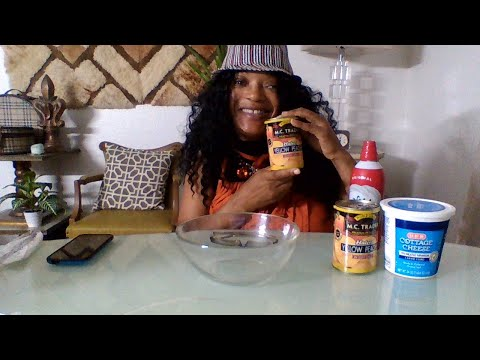 Cottage cheese, peaches and whip cream challenge by lelani kitchen