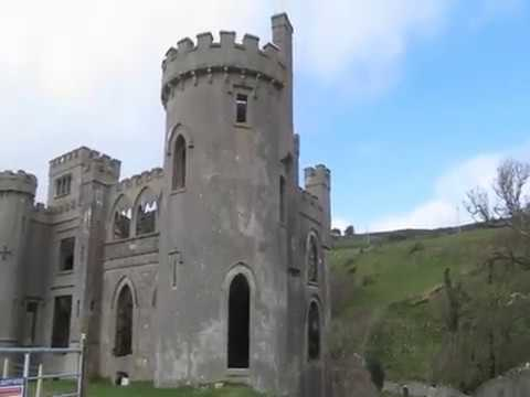 Clifden castle, an abandoned gothic house, ireland