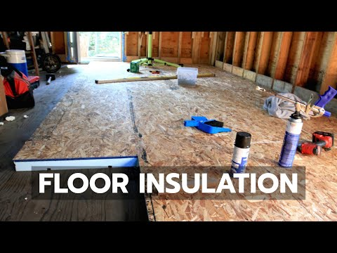 How to build a cabin - floor insulation